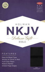 Picture of NKJV B&H Deluxe Gift Black LeatherTouch