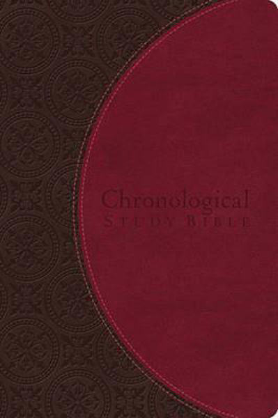 Picture of NIV 2011/CHRONOLOGICAL STUDY BIBLE Berry Earth Leathersoft edition