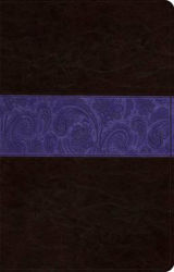 Picture of ESV LARGE PRINT REFERENCE BIBLE TruTone Brown Plum Paisley Design