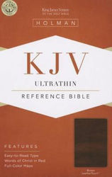 Picture of KJV B&H ULTRATHIN Reference Brown LeatherTouch