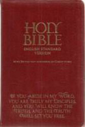 Picture of ESV Bible Society Burgundy Bonded Lth