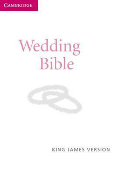 Picture of KJV WEDDING BIBLE WHITE IMIT LEATHER