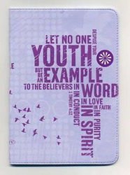 Picture of NKJV COMPACT Youth Purple Lthsoft