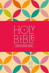 Picture of ESV COMPACT BIBLE Petals fabric print