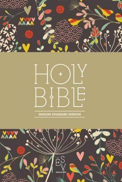 Picture of ESV COMPACT BIBLE Hearts fabric print