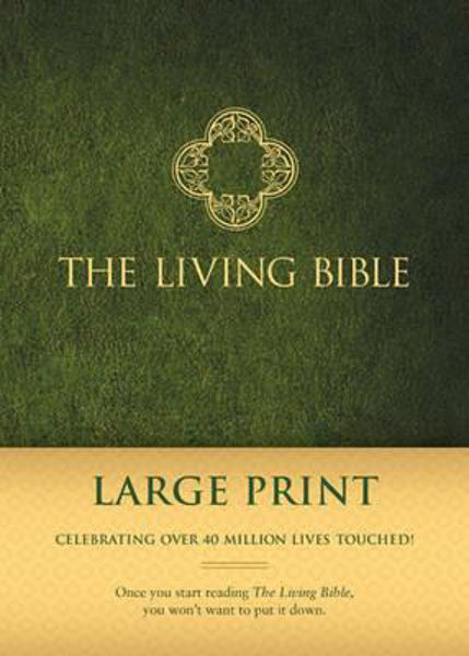 Picture of THE LIVING BIBLE Large Print Green hardback