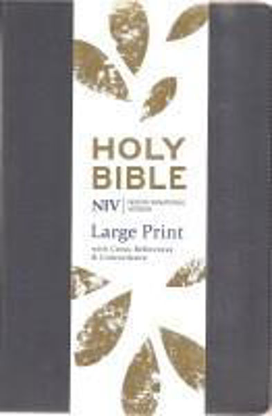 Picture of NIV 2011/LARGE PRINT Reference Soft-tone Navy Blue