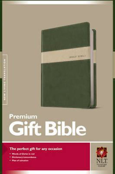 Picture of NLT GIFT BIBLE TUTONE EVERGREEN