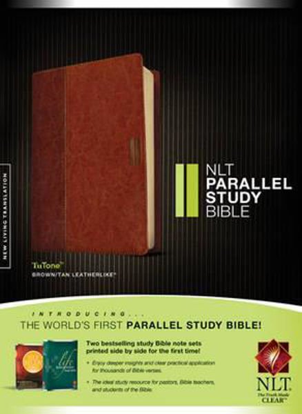 Picture of NLT PARALLEL STUDY BIBLE TUTONE BROWN