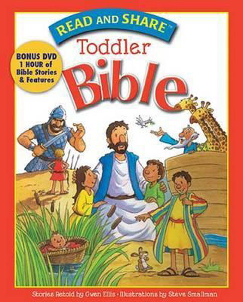 Picture of READ AND SHARE TODDLER BIBLE + DVD