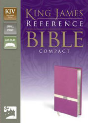 Picture of KJV COMPACT REF BIBLE  ORCHID/CREAM