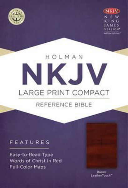 Picture of NKJV B&H Large Print Compact Brown Leaththersoft