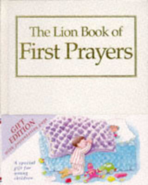Picture of LION BOOK OF FIRST PRAYERS white gift ed