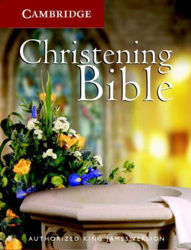 Picture of KJV CHRISTENING BIBLE white imit leath.