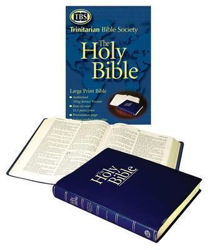 Picture of KJV Large Print TBS 15.5 point Text Blue