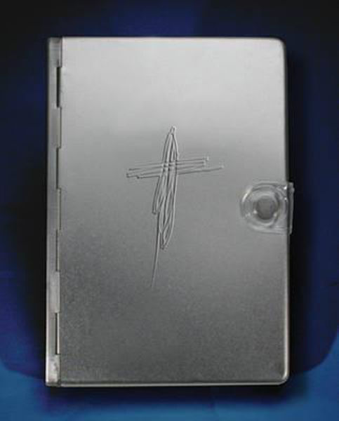 Picture of NLT METAL BIBLE CROSS SILVER
