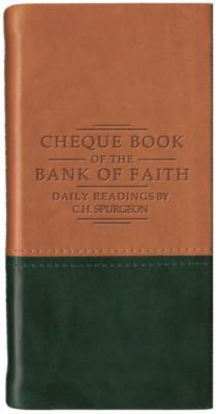 Picture of CHEQUE BOOK BANK OF FAITH TAN/GREEN