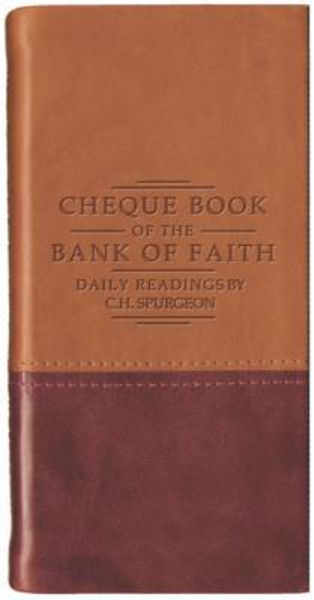Picture of CHEQUE BOOK OF BANK OF FAITH TAN/BURGUND
