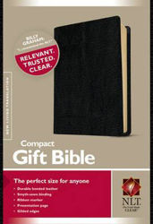 Picture of NLT COMPACT GIFT BIBLE Bonded Leather Black