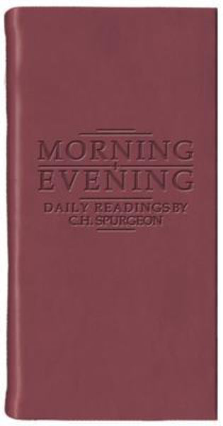 Picture of MORNING AND EVENING gift matt burgundy