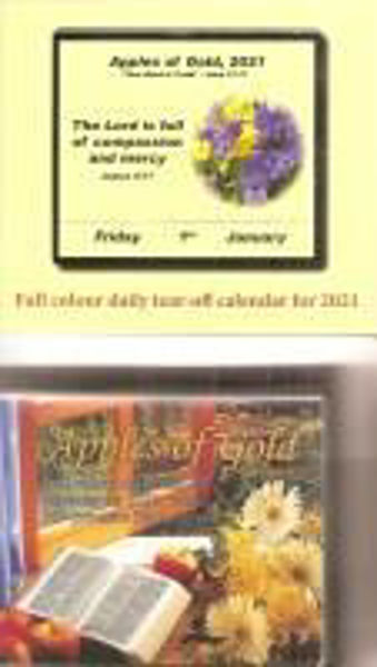 Picture of 2021 APPLES OF GOLD TEAR OFF CALENDAR