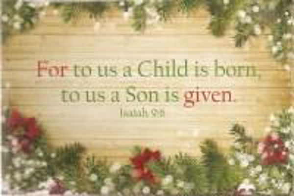 Picture of 2020 10 GOSPEL CARDS/For to us a Child is born