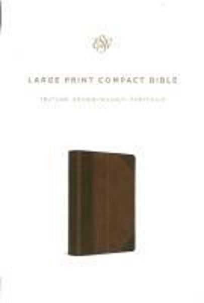 Picture of ESV LARGE PRINT Compact TruTone Brown