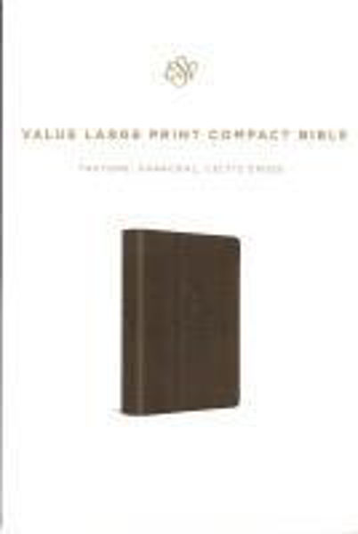 Picture of ESV LARGE PRINT COMPACT TruTone Charcoal