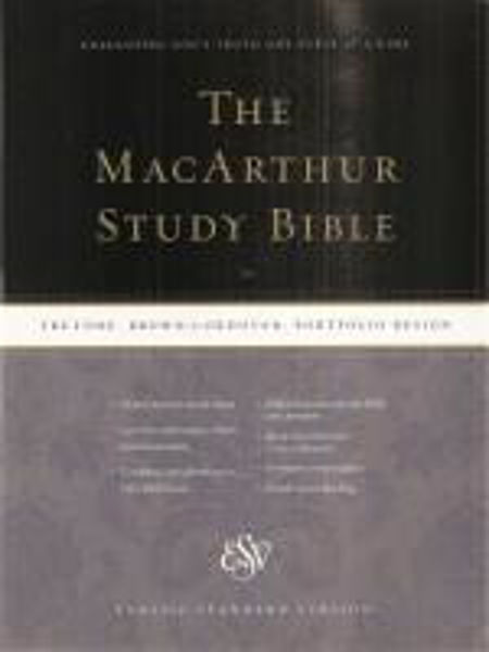 Picture of ESV MACARTHUR STUDY BIBLE TruTone Brown