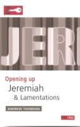 Picture of OPENING UP JEREMIAH & LAMENTATIONS