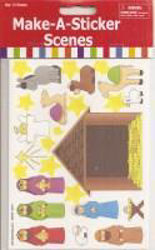 Picture of NATIVITY SCENE STICKERS 12 Sheets
