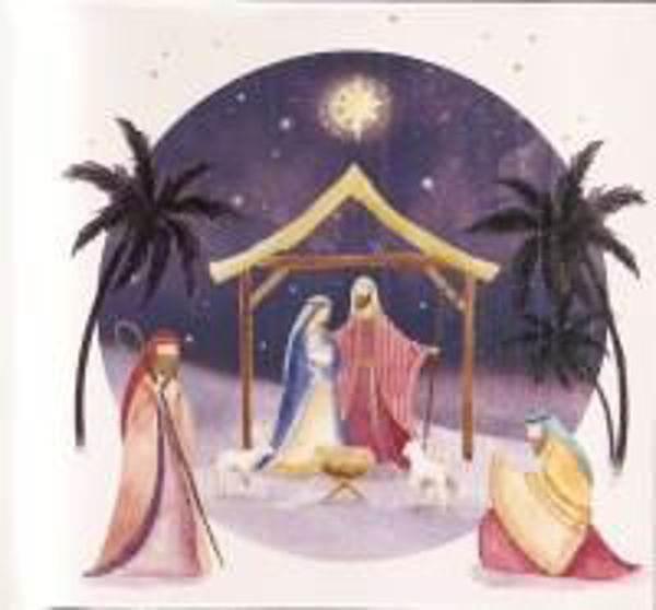 Picture of 2020 TEARFUND 10 CARDS Purple nativity
